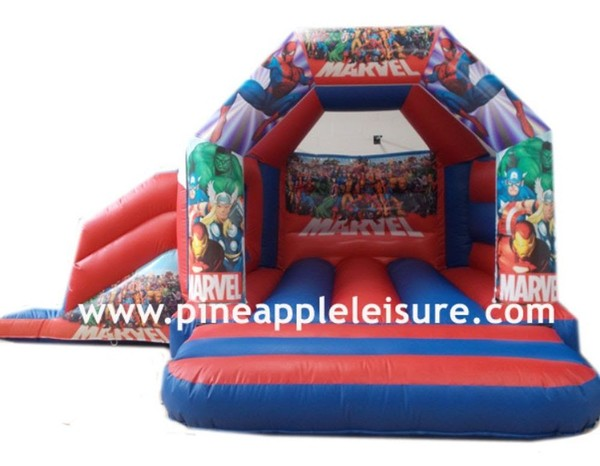 superhero bouncy castle slide combi