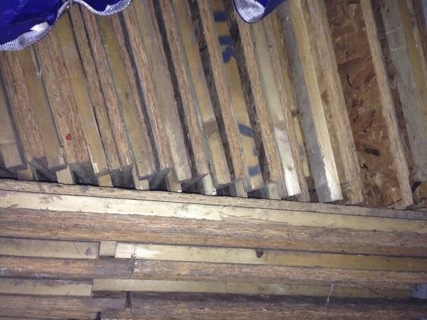 190 sqm of wooden interlocking flooring