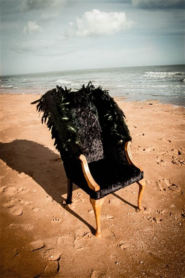 Black Winged Chair