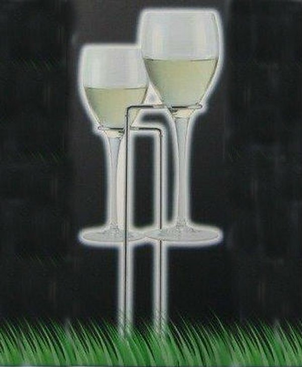 Out doors wine glass holder