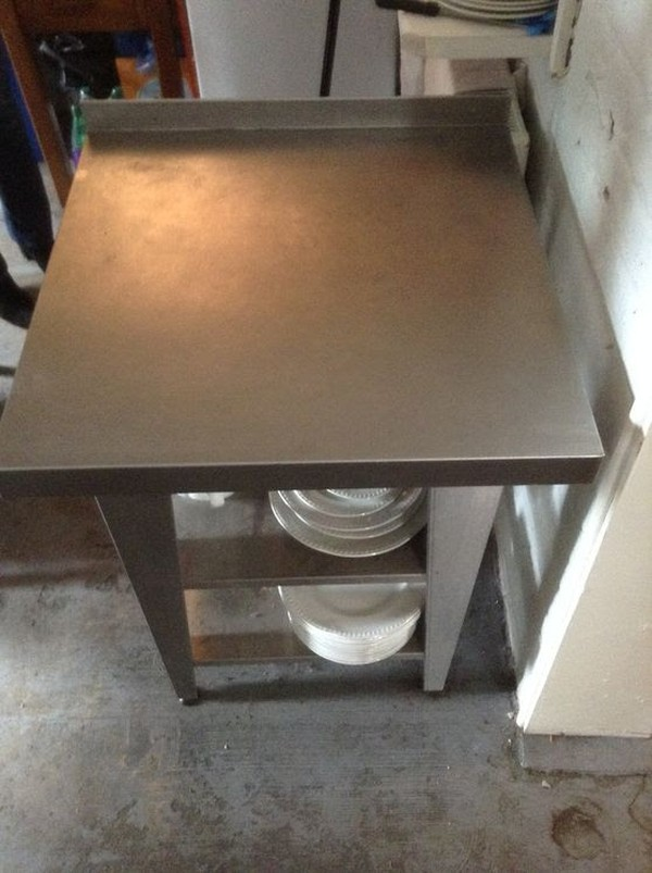 Stainless steel prep table - small