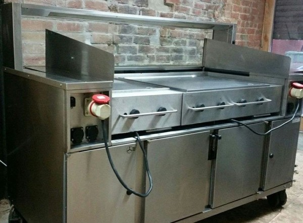Rieber Varithek ACS 1600 O3 Air Clean cooking station with two griddles / contact grill