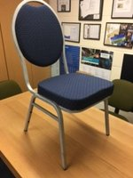 Silver Framed Blue Padded Conference Chair
