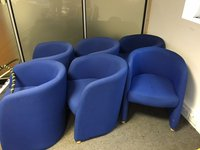 6x Blue Tub Chairs