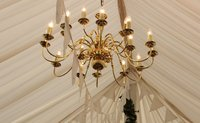 2x 18 Arm Two Tier Polished Brass Finish Chandeliers