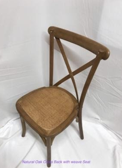 Ashcroft Chairmakers Oak Cross Back Chairs
