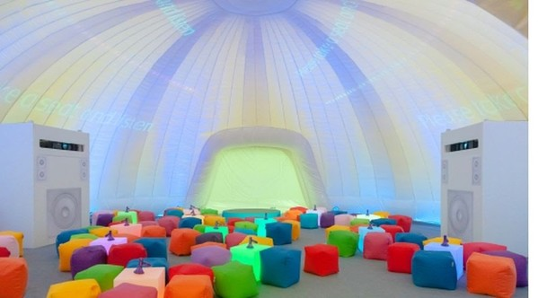 14m Inflatable Dome for sale, used indoors on 2 events only - As new