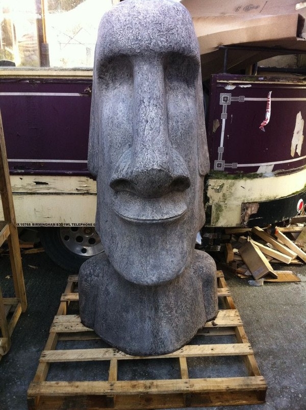 6ft Easter Island Statues (Pair)