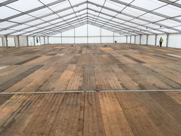 Marquee floor hire