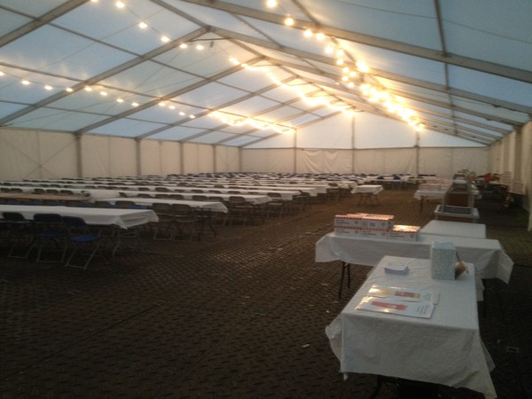 Marquee cassette floor hire