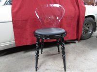 black ghost chairs