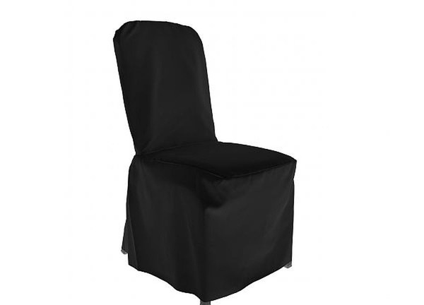 180x Black Chair Covers