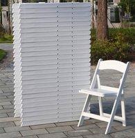 White Folding Resin Folding Chairs