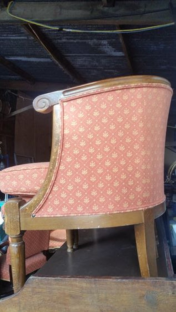 Hollywood Barrel Back Lounge Chairs