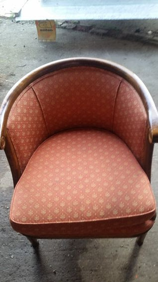 Vintage Hollywood Barrel Back Lounge Chairs