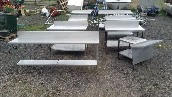 Collection of stainless steel tables