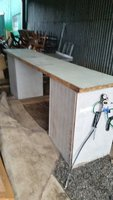 Outside bar with beer cooler