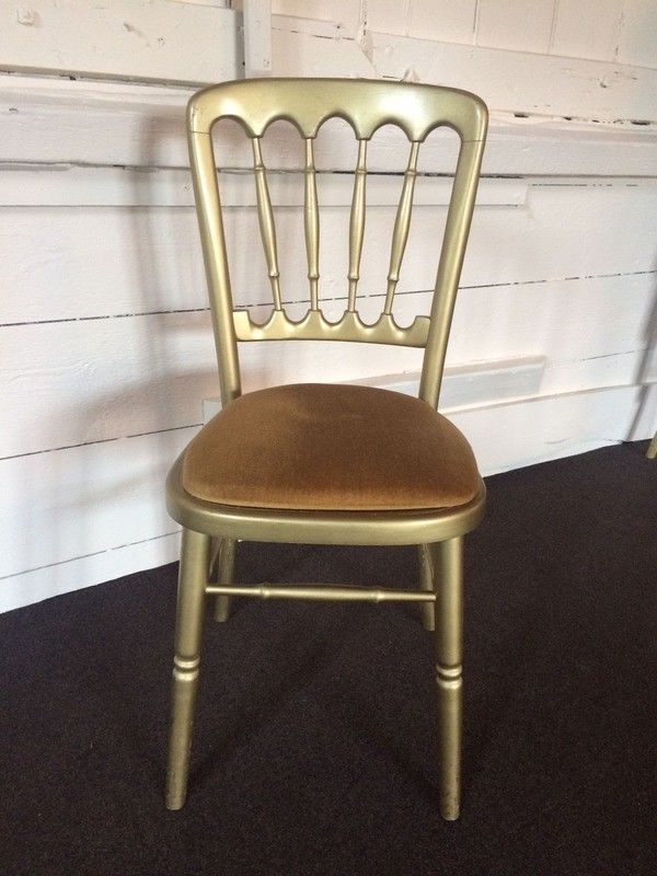 Gold  chair for weddings