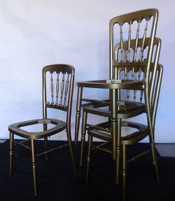 Napoleon Banquet chairs (gold)