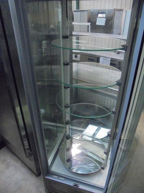 Display freezer rotating
