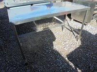 Stainless steel table 1.45m