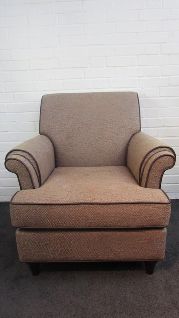 mocha tweed upholstered chairs
