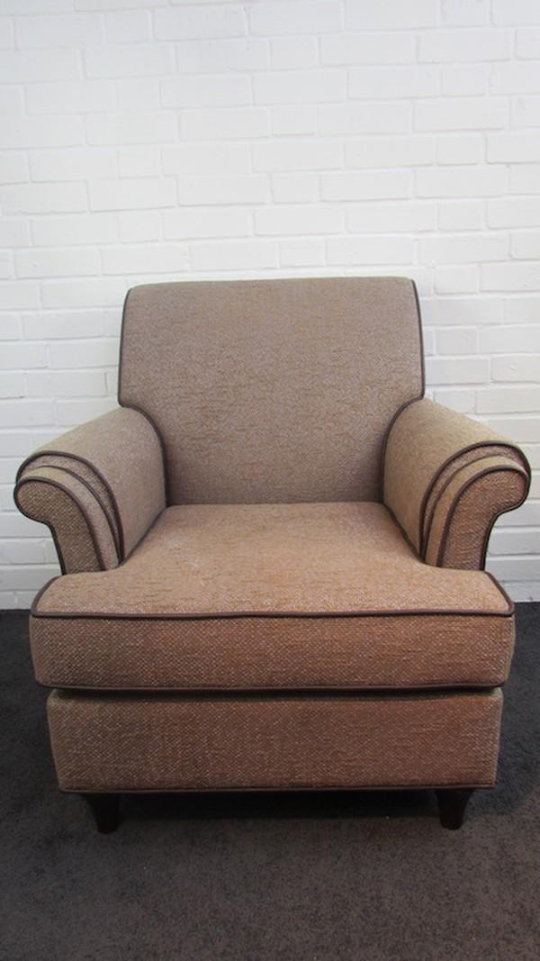 mocha tweed upholstered chairs