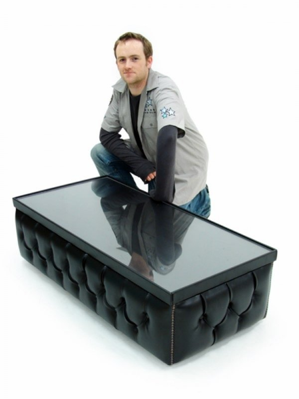 Black Chesterfield Style Coffee Tables