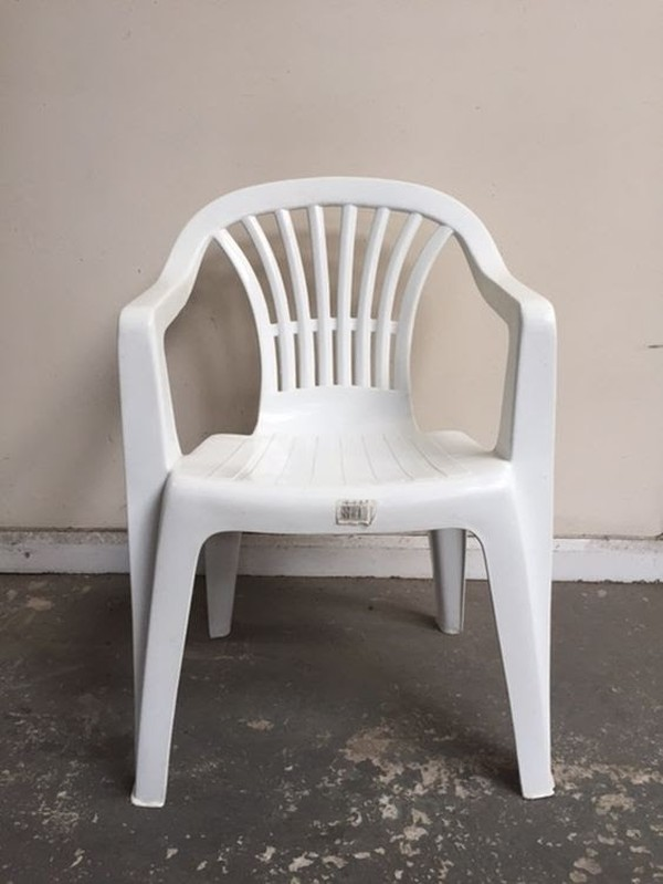 Stack-able White Plastic Garden Chairs