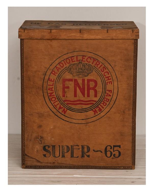 1940's Belgian Radio Factory Storage Box