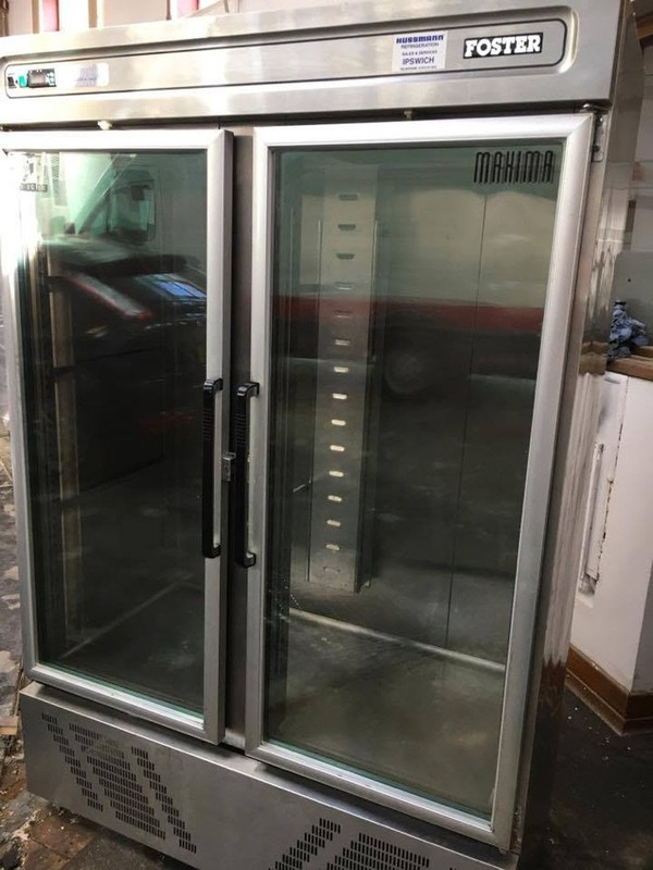 Foster Double Door Glazed Fridge Front