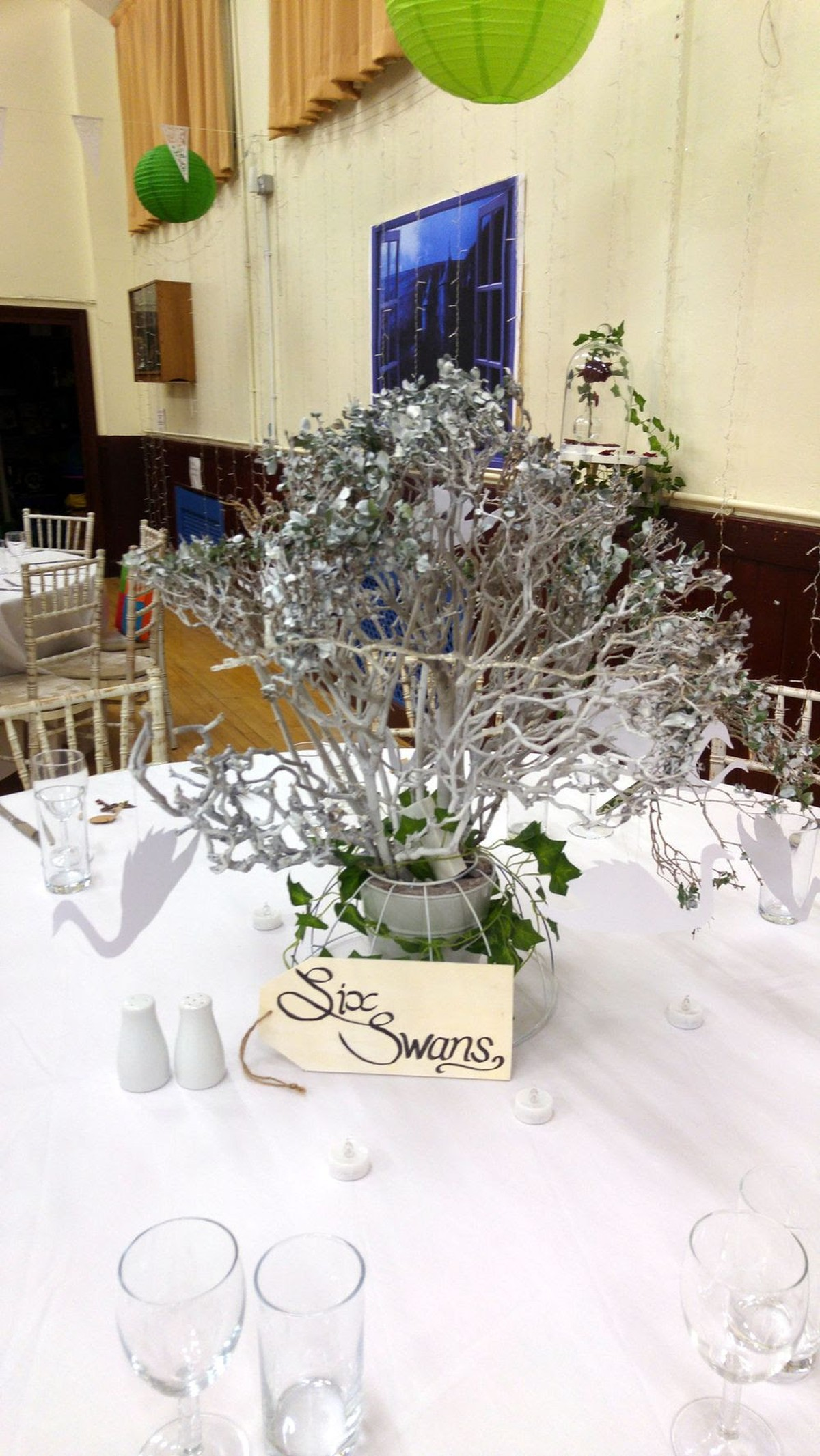 Secondhand Prop Shop Table Decor 9x White Branched Wedding Table
