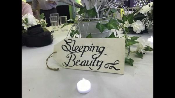 White Wedding Decoration Sign
