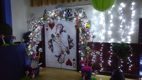 Alice in Wonderland themed arch