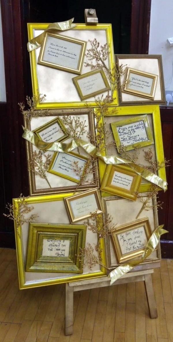 Gold Frames On Easel