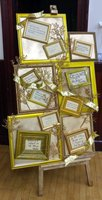 Gold Frames On Easel