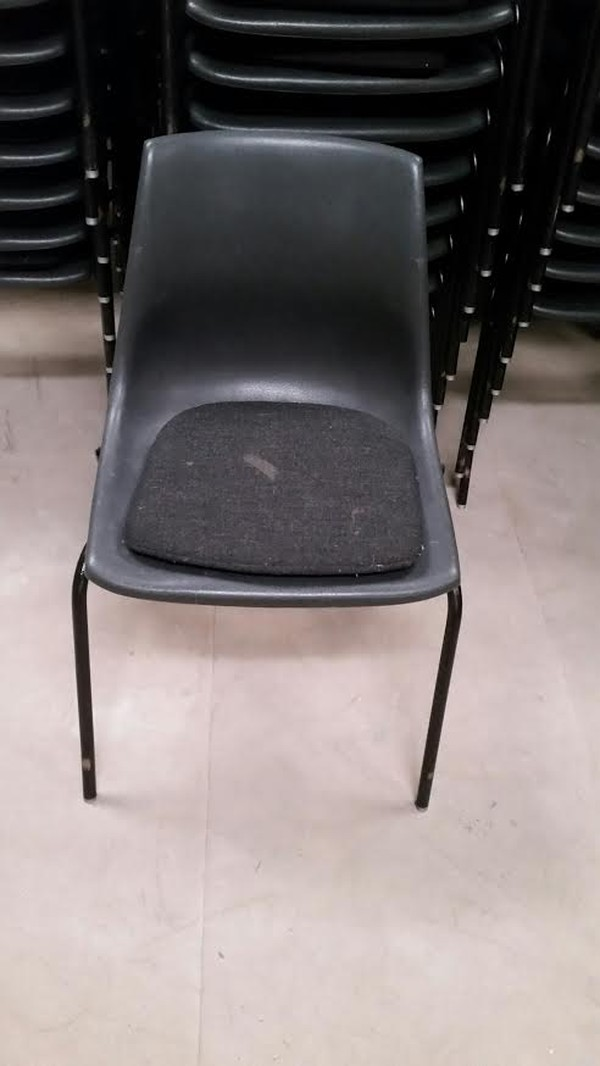 Black Chairs Front With Pad