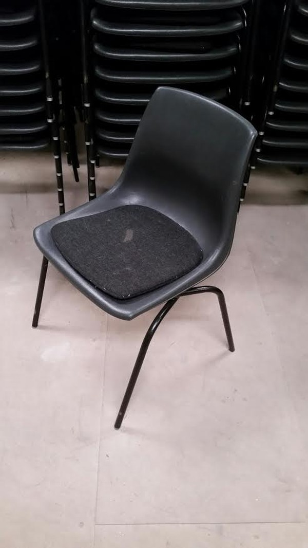 Black Chairs Side With Pad