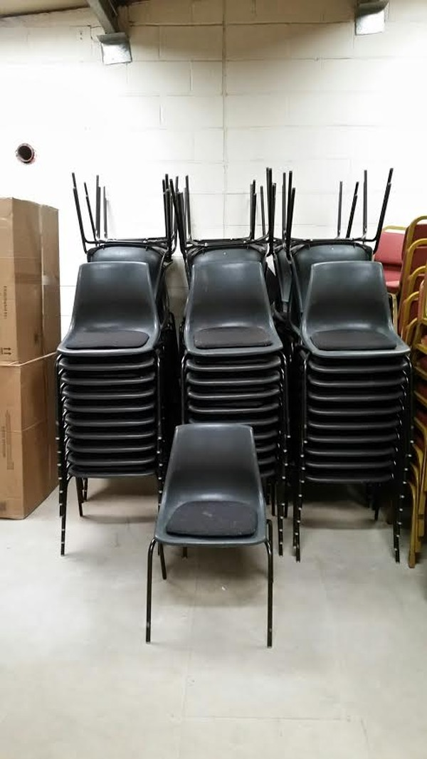 Black Chairs Stacked