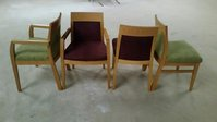 Beech frame chairs all views