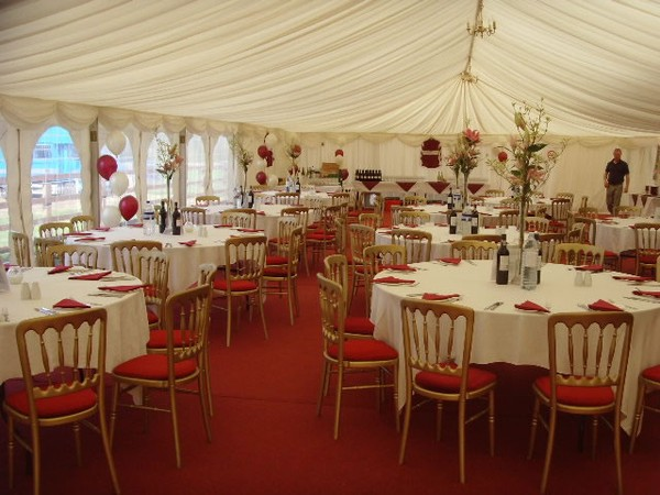 Hotel wedding marquee hire