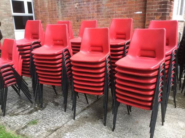 Plastic stacking chairs