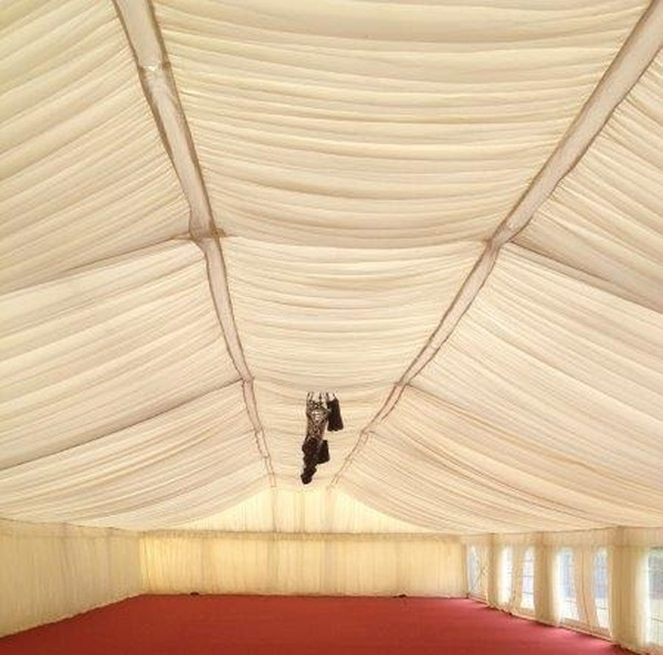 Ivory Pleated Lining System 15m