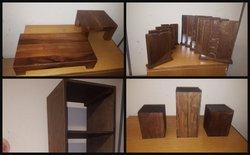 wooden shop display