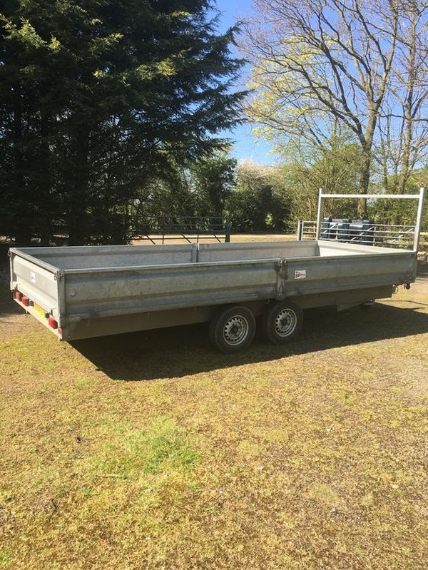 Secondhand Trailers Flat Bed Trailers 20ft Twin Axle