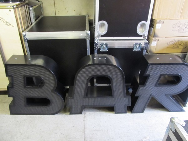 LED BAR Letters in Flight Case