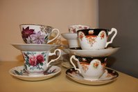 Vintage Crockery Teacups And Saucers