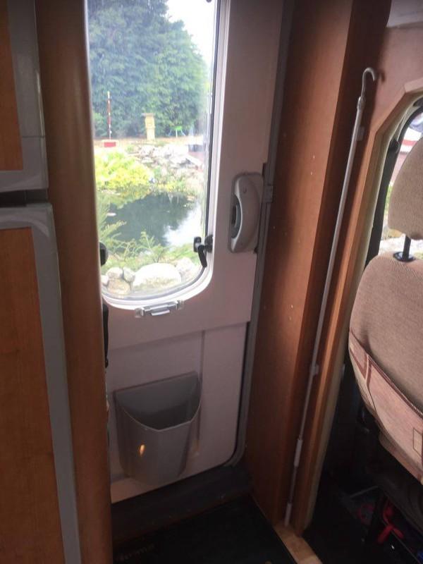 Habitation door with window