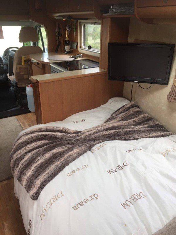 Motorhome with Double bed.