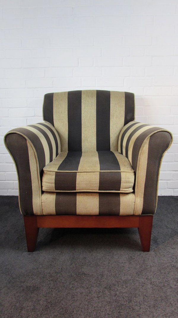 Upholstered Striped Fabric Chairs